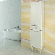 "Comforty Шкаф-колонна ""Монако-40"" левая белый глянец"