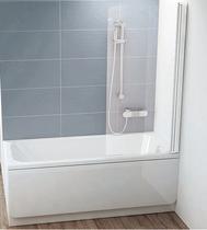 Шторка на ванну Ravak Chrome CVS1-80 R 7QR40100Z1 Transparent профиль белый правый