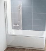 Шторка на ванну Ravak Chrome CVS1-80 L 7QL40100Z1 Transparent профиль белый левый