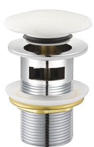Донный клапан CLICK-CLAK 10506 белый керамический