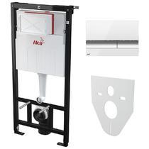 Комплект Alcaplast SETAM101/1120-4:1RUS для установки унитаза с шумоизоляцией с панелью смыва белой