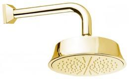 Верхний душ с изливом, круглое сечение, золото Cezares CZR-TDD1-03/24