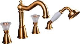 Смеситель на борт ванны Boheme Camelia золото 391-Camelia