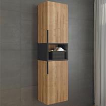 Comforty Шкаф-колонна Штутгарт-40 дуб тёмно-коричневый