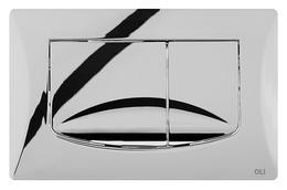 Панель механ. двойная RIVER DUAL, пластик, хром глянцевый, Oliveira