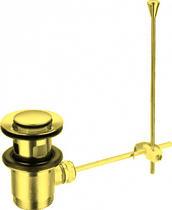 Донный клапан с переливом, механический, золото Cezares CZR-SA2-03