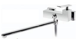 Смеситель для ванны и душа с длинным изливом, хром Ticino BelBagno TIC-VDLM-CRM