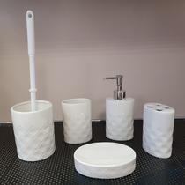 Набор аксессуаров керамический для ванной 5 в 1 белый