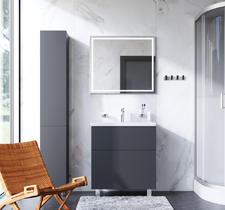 Комплект: Мебель для ванной с напольной тумбой, 75 см, графит матовый AM.PM Gem 20948