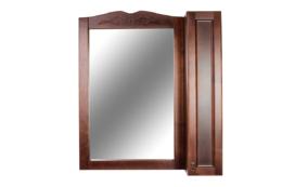 Зеркальный шкаф Orange Классик F7-85ZS1 с подсветкой, орех антикварный