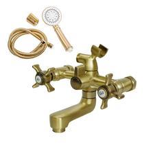 Смеситель для ванны/душа Orange Classic M76-100br с душ.набором, бронза