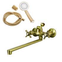 Смеситель для ванны/душа Orange Classic M76-211br с душ.набором, бронза