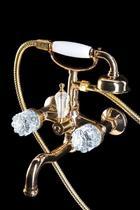 Смеситель Boheme Brilliante Cristal 293-CRST для ванны с душевым гарнитуром