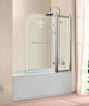 Шторка на ванну Cezares RETRO-A-V-1-80/145-CP-Cr-R