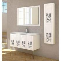 Шкаф-колонна Cezares 35x140 Decorato rosa Rosa 53180