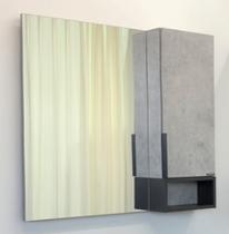 Comforty Зеркало Франкфурт 90 см бетон светлый 00-00006504