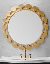 Зеркало Cezares 90x90 Foglia Oro D90 AT04.04.402