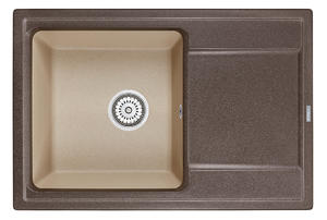 Мойка кухонная Granula Hibrid HI-74 эспрессо-песок