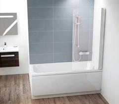 Шторка на ванну Ravak Chrome CVS1-80 R 7QR40C00Z1 Transparent профиль хром правый