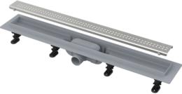 Душевой лоток AlcaPlast Simple с порогами для перфорированной решетки 75см хром APZ9-750M