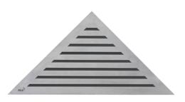 Решетка для углового душевого лотка AlcaPlast дизайн LIFE 27x38см хром LIFE