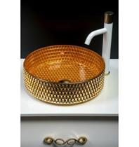 Раковина накладная Boheme золото 817-G