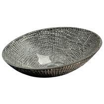 Раковина накладная Boheme серебро 815