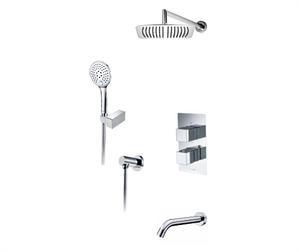Wasserkraft А171519 Thermo Встраиваемый комплект для ванны с верхней душевой насадкой, лейкой и изливом