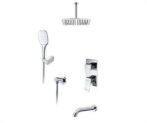 Wasserkraft А171668 Встраиваемый комплект для ванны с верхней душевой насадкой, лейкой и изливом