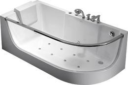Акриловая ванна GEMY G9227 Milk SPA L 165x80x58