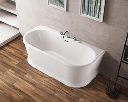 Акриловая ванна BelBagno пристенная, белая BB408-1700-800