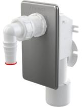 Сифон для стиральной машины AlcaPlast под штукатурку хром APS3
