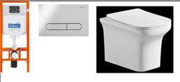 Инсталляция с унитазом BelBagno Loto AS3106CHR/AS3103/3106SC/BB002-80/BB005-PR-CHROME тонкое сиденье с микролифтом