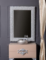 Зеркало Boheme Rose серебро 547
