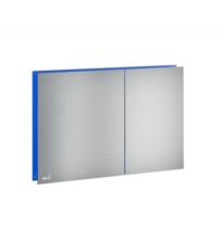 Кнопка управления AlcaPlast с подсветкой хром матовый свет - синий AlcaPlast AIR LIGHT-BLUE