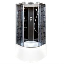 Душевая кабина Deto BМ4510 стандартная BLACK 100х100х220 см