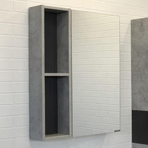 Comforty Зеркало Франкфурт 60 см бетон светлый 00-00004331