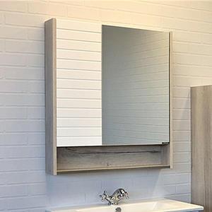 Comforty Зеркало Клеон 60 см белый/дуб дымчатый 00-00002045