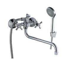 Смеситель для ванны Decoroom с ручным душем хром/белый DR51045-White