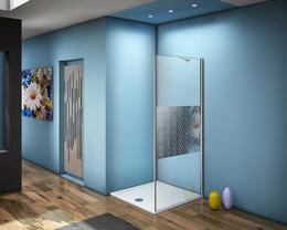 Боковая часть Good Door FANTASY SP-90-F-CH стекло прозрачное с зеркальным рисунком Фэнтази