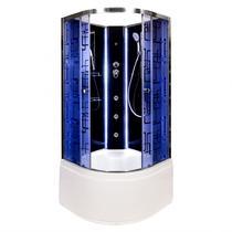 Душевая кабина Deto BМ4510 N LED с гм. BLACK 100х100х208 см