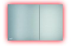 Кнопка управления AlcaPlast с подсветкой хром матовый AIR LIGHT
