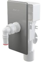 Сифон для стиральной машины AlcaPlast с разрывным клапаном под штукатурку хром APS3P