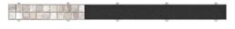 Решетка для душевого лотка AlcaPlast дизайн INSERT 85см под плитку INSERT-850