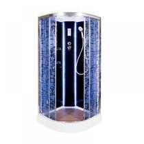 Душевая кабина Deto BМ1510 LED BLACK 100х100х220 см
