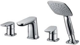 Смеситель на борт ванны с ручным выдвижным душем, хром Cezares GRACE-C-BVD-01