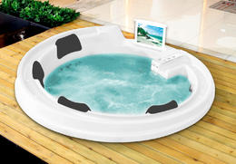 Акриловая ванна Gemy G9090 O White 190x190x90