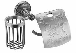 Держатель освежителя воздуха и туалетной бумаги Zorg Antic AZR 20 SL серебро