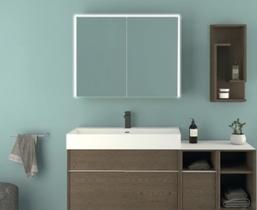 Зеркальный шкаф с LED подсветкой Cezares 90x70 Space 84253