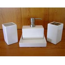 Набор аксессуаров керамический для ванной 4 в 1 люкс белый